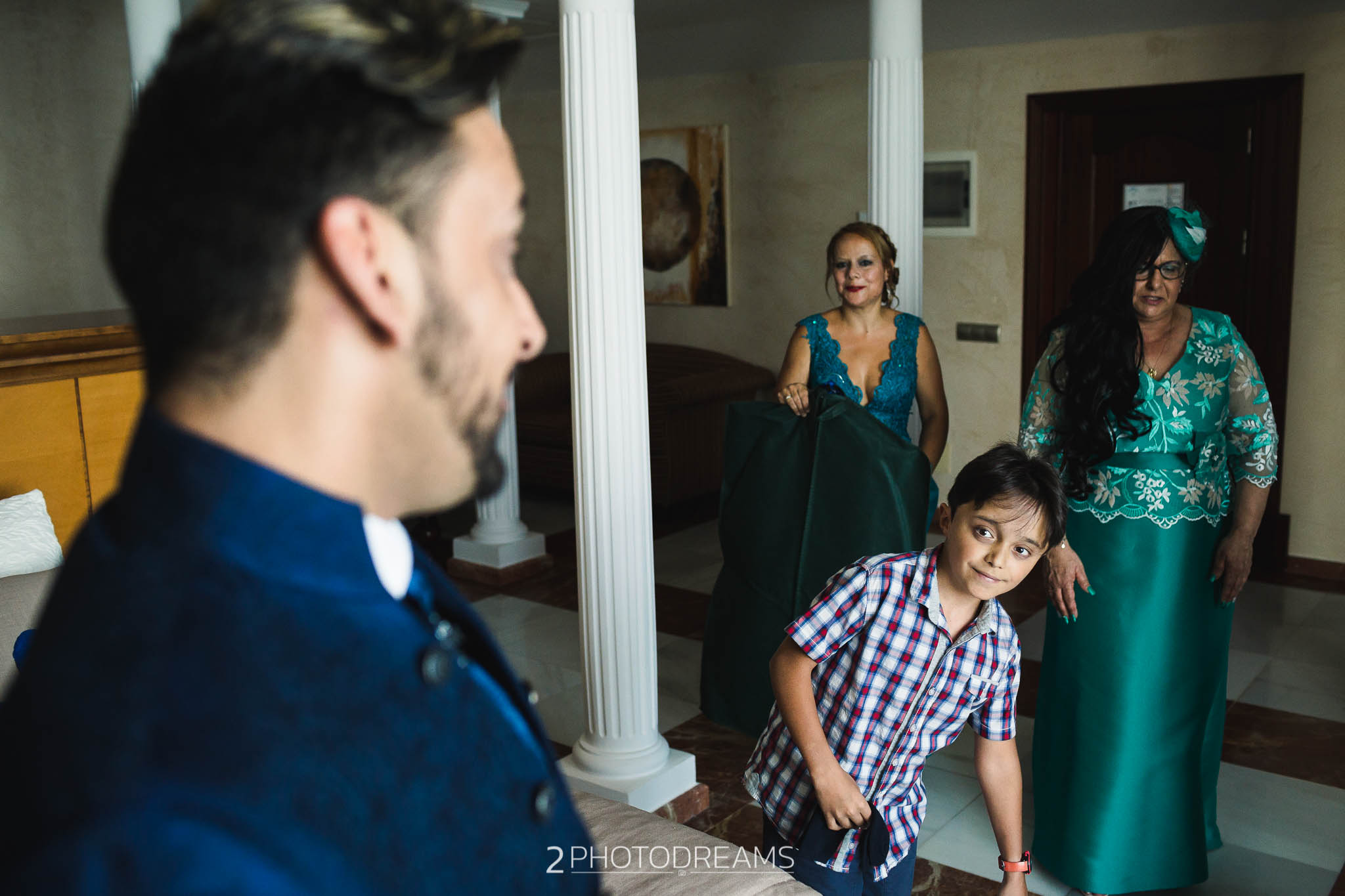 Wedding photographer Waterton Park Hotel groom